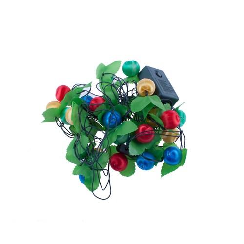 KullanAtMarket Rengarenk Yılbaşı Topları Renkli Işık