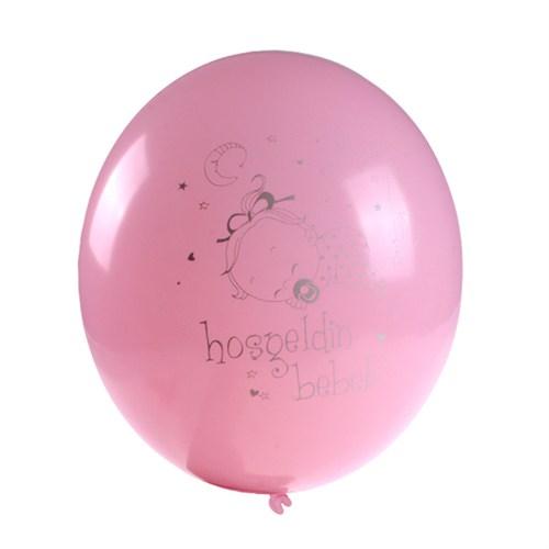 KullanAtMarket Hoşgeldin Bebek Pembe Balon