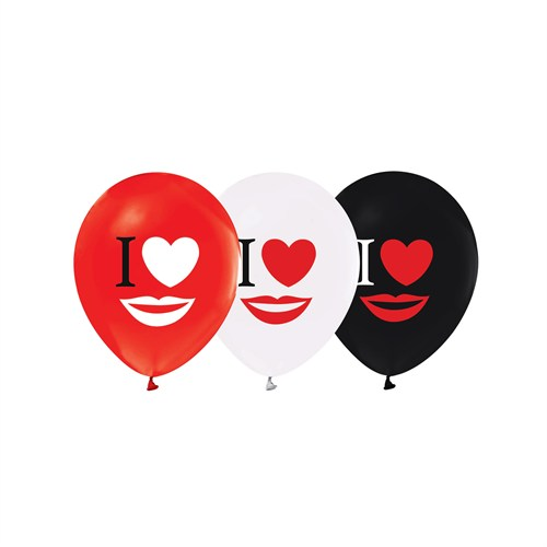 KullanAtMarket I Love Dudak Balon