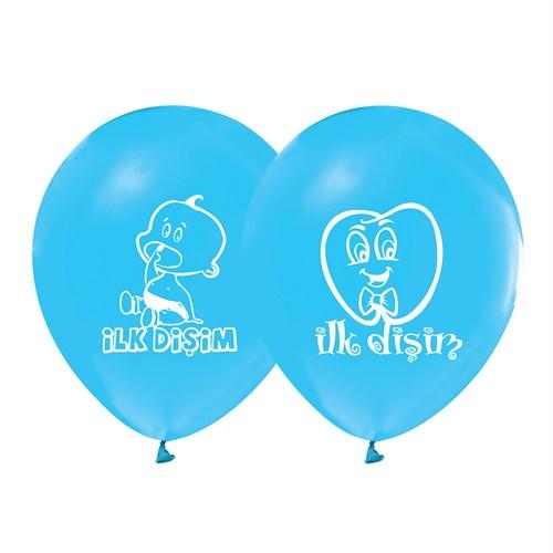 KullanAtMarket İlk Diş Mavi Balon