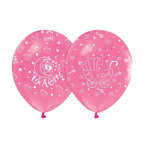KullanAtMarket Its A Girl Pembe Balon