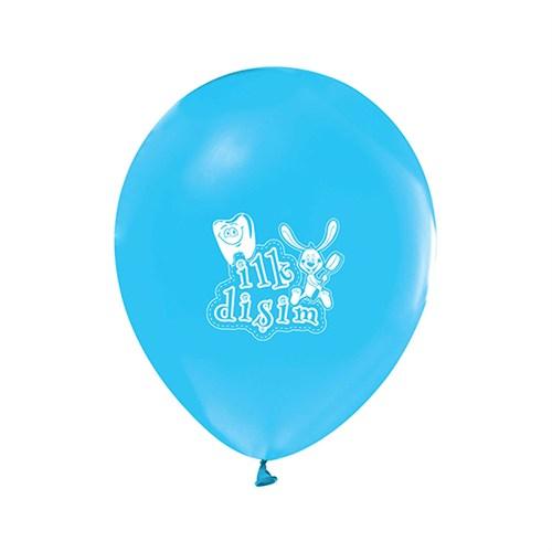 KullanAtMarket İlk Diş Mavi Metalik Balon