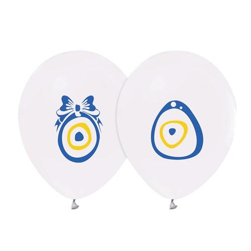 KullanAtMarket Nazar Boncuklu Beyaz Balon