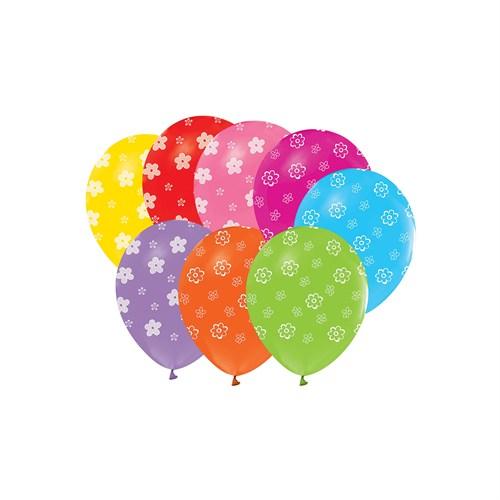KullanAtMarket Papatya Baskılı Renkli Balon