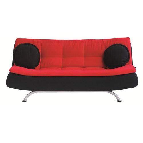 Futon Riva Üçlü Kanepe ( Siyah - Kırmızı )