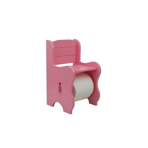 Cosiness Ahşap Tuvalet Kağıtlığı - Pembe