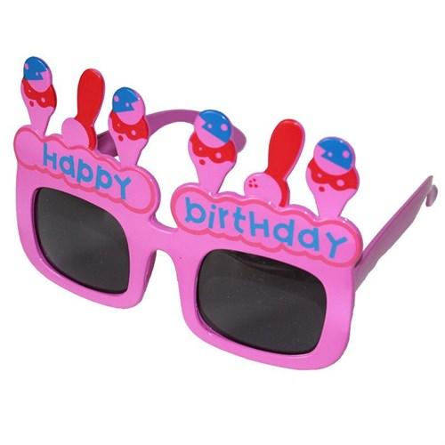 Pandoli Happy Birthday Pembe Gözlük