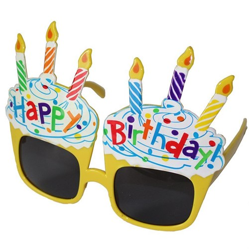 Pandoli Sarı Happy Birthday Gözlük