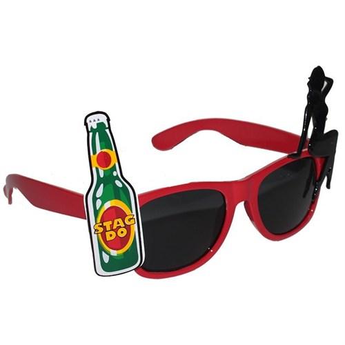Pandoli Şov Zamanı Parti Gözlüğü Kırmızı Renk