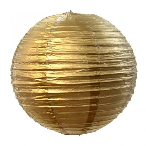 Pandoli Çin Feneri Asma Süs Altın Renk 35 Cm