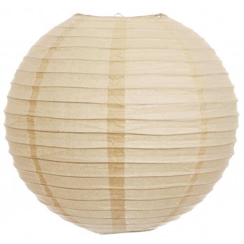 Pandoli Çin Feneri Asma Süs Krem Renk 35 Cm