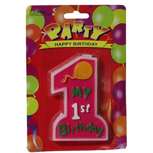 Pandoli My 1 St Birthday Pembe Renk Parti Mumu