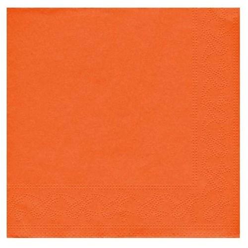 Pandoli Turuncu Renk 50 Adet Kağıt Parti Peçetesi 33 Cm