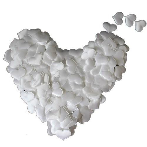 Pandoli 200 Adet Beyaz Kalp Süs 3 Cm
