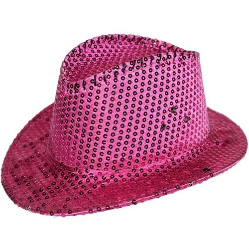 Pandoli Pembe Renk Pullu Kovboy Şapkası