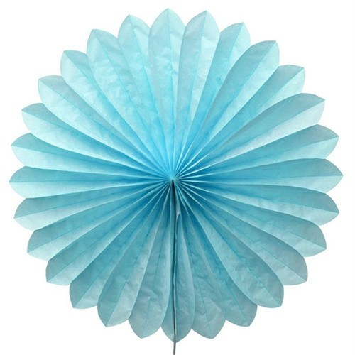 Pandoli Dilimli Mavi Renk Kağıt Yelpaze Süs 40 Cm 1 Adet