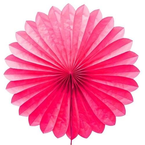 Pandoli Dilimli Şeker Pembesi Renk Kağıt Yelpaze Süs 40 Cm 1 Adet