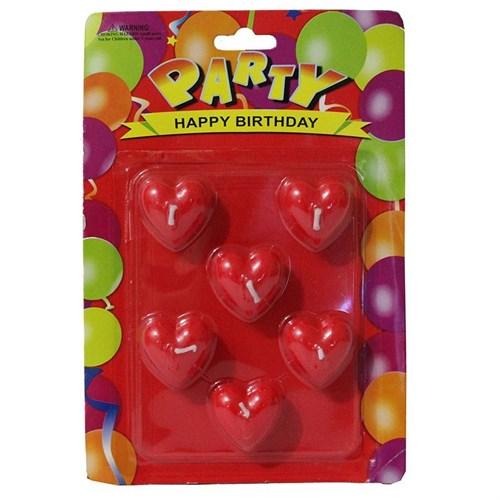 Pandoli Kalpli Parti Mumu Kırmızı Renk 6 Adet