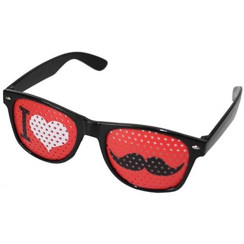 Pandoli I Kalp Bıyık Gözlük