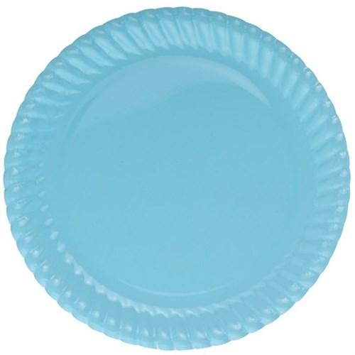 Pandoli Mavi Renk 23 Cm Karton Parti Tabağı 8 Adet