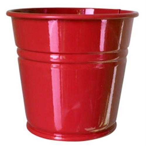 Pandoli Kırmızı Renk Galvaniz Kurabiye Kasesi 11 Cm Küçük Boy 1 Adet