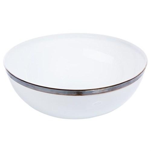 Pandoli Lüks Plastik Beyaz Salata Kasesi Büyük Boy 27 Cm