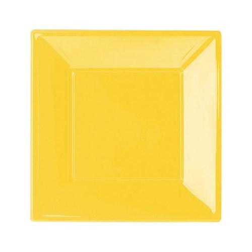 Pandoli Sarı Renk Küçük Boy 17 Cm Plastik Parti Tabağı 8 Adet