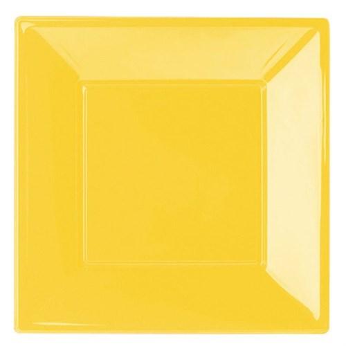 Pandoli Sarı Renk Büyük Boy 23 Cm Plastik Parti Tabağı 8 Adet