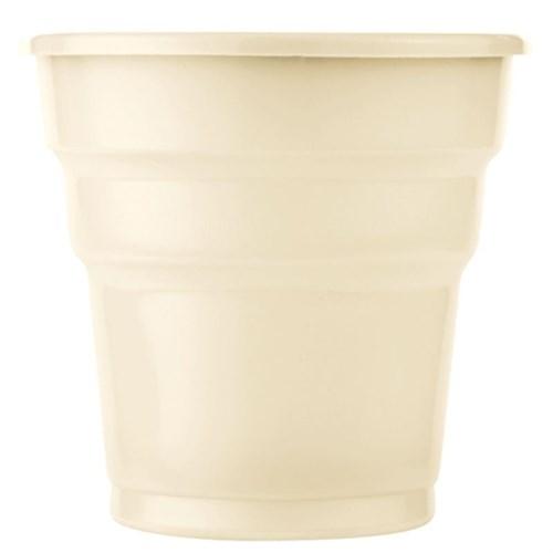 Pandoli Krem Renk 25 Adet Plastik İçecek Parti Bardağı 180 Ml