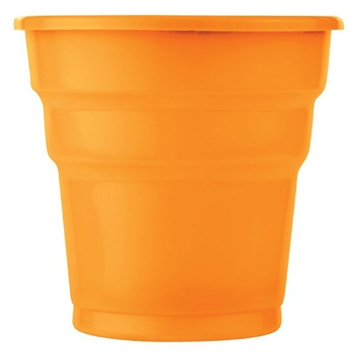 Pandoli Turuncu Renk 25 Adet Plastik İçecek Parti Bardağı 180 Ml