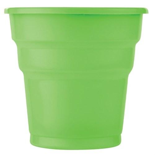 Pandoli Yeşil Renk 25 Adet Plastik İçecek Parti Bardağı 180 Ml