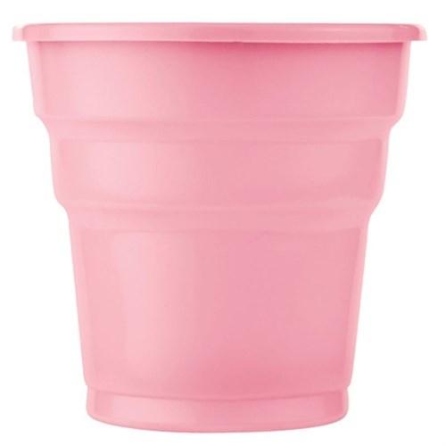Pandoli Pembe Renk 25 Adet Plastik İçecek Parti Bardağı 180 Ml