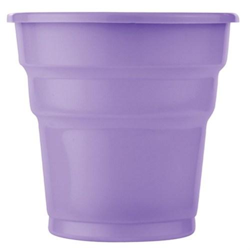 Pandoli Lila Renk 25 Adet Plastik İçecek Parti Bardağı 180 Ml