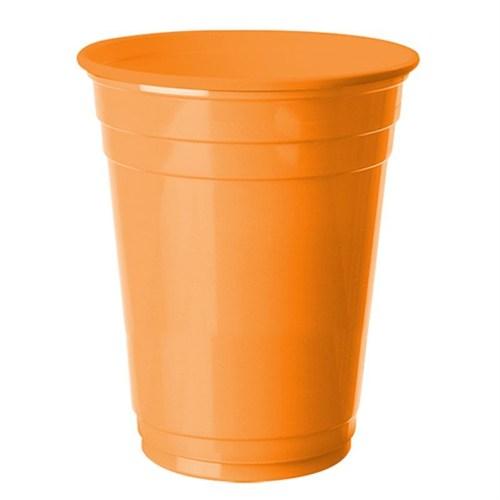 Pandoli 8 Adet Plastik Turuncu Renk Meşrubat Parti Bardağı 266 Ml