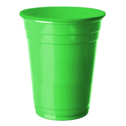 Pandoli 8 Adet Plastik Yeşil Renk Meşrubat Parti Bardağı 266 Ml