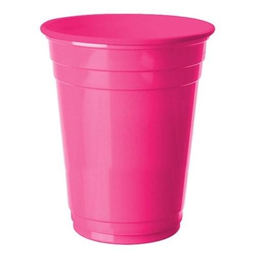 Pandoli 8 Adet Plastik Fuşya Pembe Renk Meşrubat Parti Bardağı 266 Ml