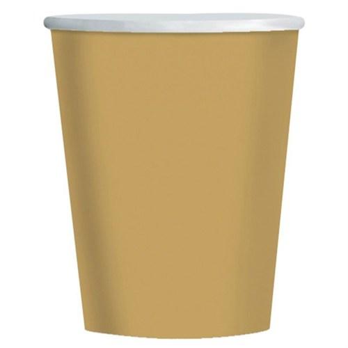 Pandoli Altın Renk 180 Ml Karton Parti Bardağı 8 Adet