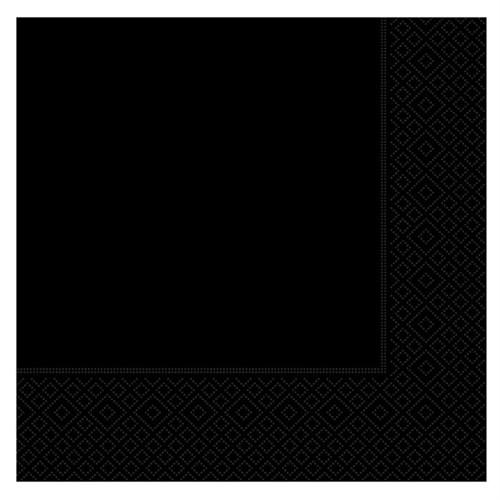 Pandoli 20 Adet Siyah Renk Kağıt Parti Peçetesi 33 Cm