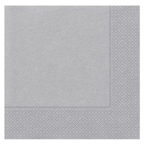Pandoli 20 Adet Gümüş Renk Kağıt Parti Peçetesi 33 Cm
