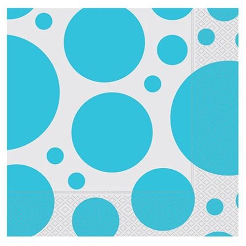 Pandoli 33 Cm Kağıt Parti Peçetesi Mavi Beyaz Puanlı 20 Adet