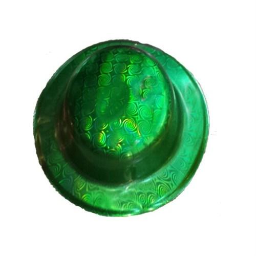 Pandoli Yeşil Renk Desenli Plastik Parti Şapkası