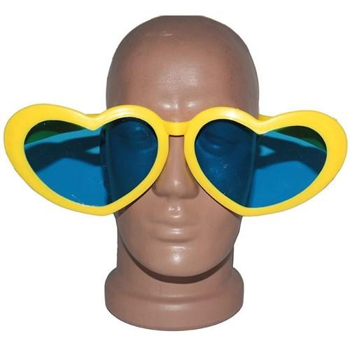 Pandoli Kalpli Parti Gözlüğü Büyük Boy Sarı Renk