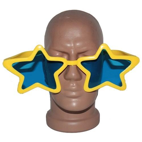 Pandoli Süperstar Yıldızlı Parti Gözlüğü Sarı Renk