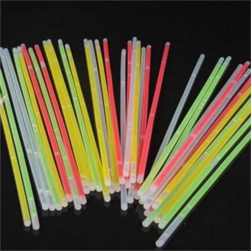 Pandoli Neonlu Glow Stick Çubuk 100 Adet Karışık Renkli