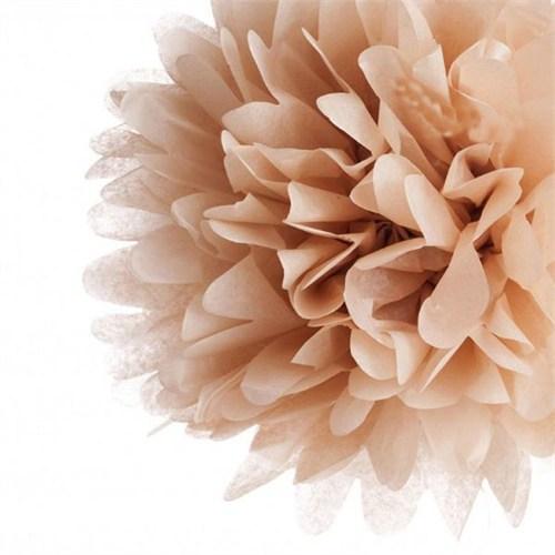 Pandoli 35 Cm Altın Renk Pelur Kağıt Ponpon Çiçek Asma Süs 1 Adet