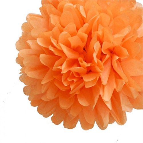 Pandoli 35 Cm Turuncu Renk Pelur Kağıt Ponpon Çiçek Asma Süs 1 Adet