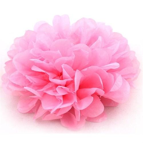 Pandoli Bebek Pembesi Renk Pelur Kağıt Ponpon Çiçek 25 Cm Asma Süs