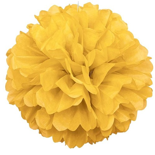 Pandoli 1 Adet Sarı Renk Pelur Kağıt Ponpon Çiçek 25 Cm Asma Süs