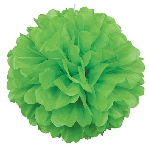 Pandoli 1 Adet Yeşil Renk Pelur Kağıt Ponpon Çiçek 25 Cm Asma Süs