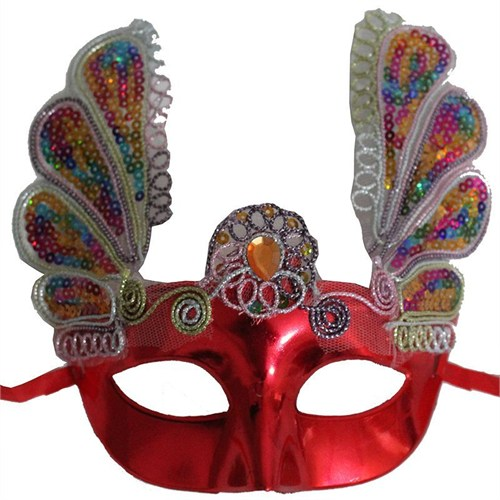 Pandoli Kırmızı Venedik Maskesi